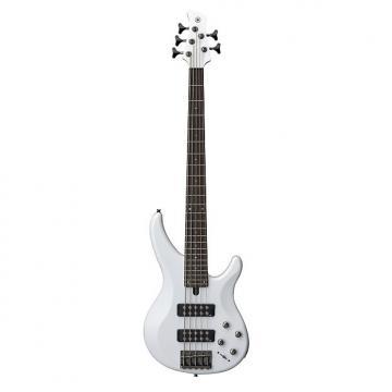 Custom Yamaha TRBX305 5 String Electric Bass Guitar White Finish