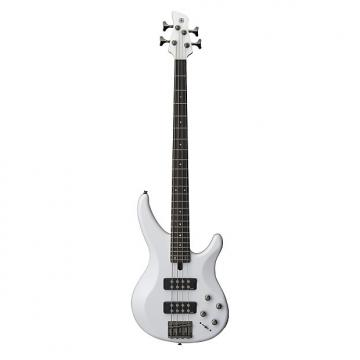 Custom Yamaha TRBX304 4 String Electric Bass Guitar White Finish