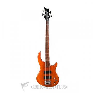Custom Dean Guitars Edge 1 5-String Electric Bass - Trans Amber - E1 5 TAM - 819998001209