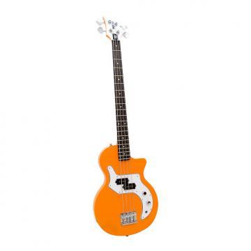 Custom Orange O-Bass 4 String Bass Guitar with Gig Bag Orange