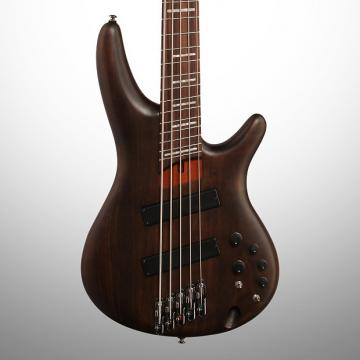 Custom Ibanez SRFF805 Fan Fret Electric Bass, 5-String, Walnut Flat