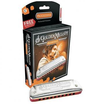 Custom Hohner Golden Melody Harmonica, Key of G