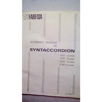 Custom Farfisa Schmatic for SYNTACCORDION N/A N/A