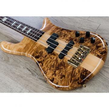 Custom Spector Euro4 LX 4-String Bass Guitar, Bartolini PJ Pickups, Gig Bag - Poplar Burl Gloss
