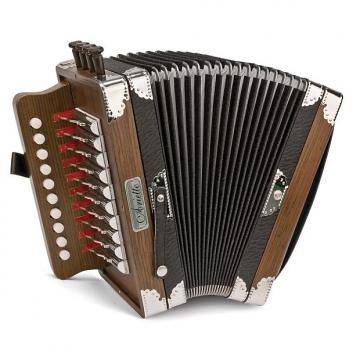 Custom Hohner 3002 Ariette Cajun Accordian Brown
