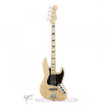 Custom Fender American Elite Jazz Bass Ash Maple Neck 4-string - Natural -0197002721
