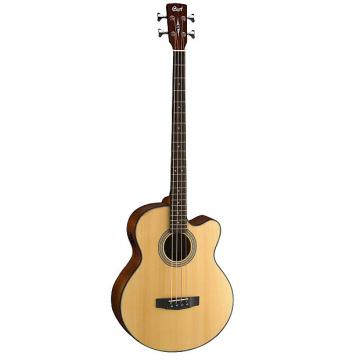 Custom Cort Acoustic Bass Series SJB5F Acoustic Bass, Natural Satin