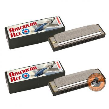 Custom Hohner American Ace G and C Harmonica Set