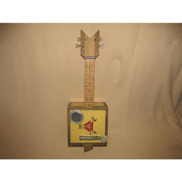 Custom Handmade Cigar Box Ukulele 2015 Yellow