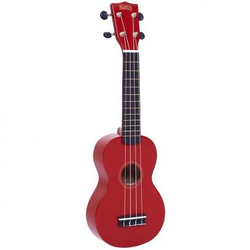 Custom Mahalo Rainbow Soprano Ukulele Red