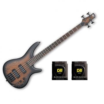 Custom Ibanez SR400EBCW Natural Gray Burst w/2 Sets DR Strings BKB45