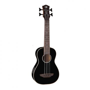 Custom Luna Guitars Baritone Bass Ukulele - Gloss Black