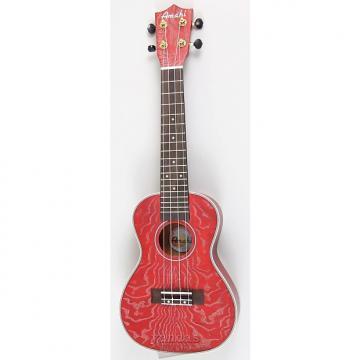 Custom Amahi C-22 Concert Ukulele | Quilted Ash Red
