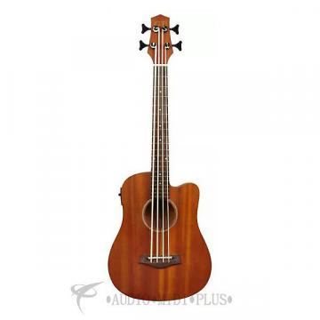 "Custom Gold Tone 23"" Scale Fretted Acoustic-Electric MicroBass Natural  - I-MBASS-U - 00875116003227"