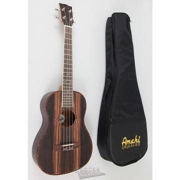 Custom Amahi UK990 Classic Ebony Wood Ukulele - Concert - With Electronics