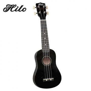 Custom Hilo Ukuleles 2500BK Soprano Ukulele - Black