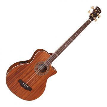 Custom Vintage VCB430 Electro Acoustic Bass Guitar - Satin Mahogany