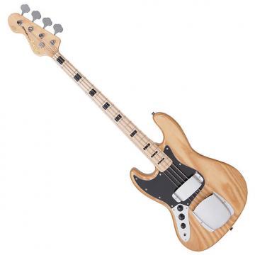 Custom Vintage LVJ74NAT Left Handed Bass Guitar