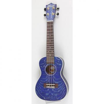Custom Amahi C-23 Concert Ukulele | Quilted Ash Blue