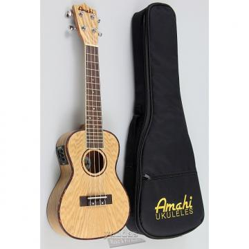 Custom Amahi UK880 Classic Quilted Ash Concert Ukulele - Without Electronics