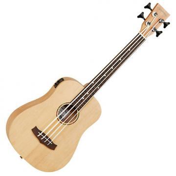 Custom Tanglewood TWRBE Fretless Travel Bass, Spruce Top, Mah B&S with EQ