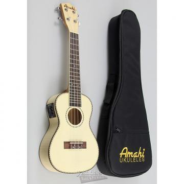 Custom Amahi UK550C Classic Flamed Maple Concert Ukulele - With Electronics