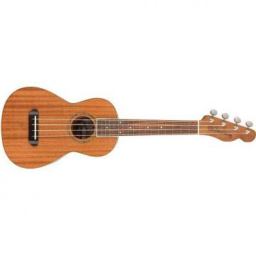 Custom Fender Ukulele Mino Aka Mahogany Concert Uke Natural w/ Telecaster Headstock
