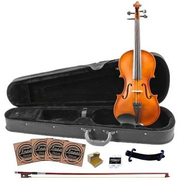 Custom Rise by Sawtooth Beginner Violin with Flame Maple Back, 3/4 Size