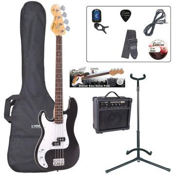 Custom ENCORE BASS GUITAR LEFT HAND OUTFIT - BLACK