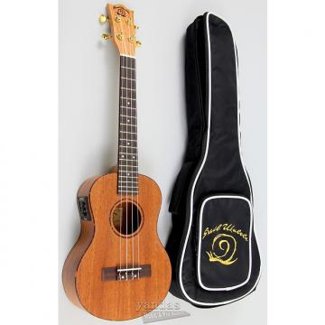 Custom Amahi Snail Series Mahogany Ukulele - Tenor With Electroincs