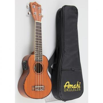 Custom Amahi UK220 Classic Series Select Mahogany Ukulele - Soprano W/ Electronics