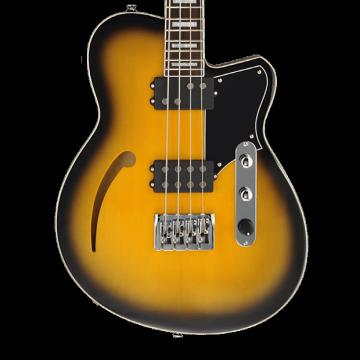 Custom Reverend Dub King Semi-Hollow Bass - Tobacco Burst