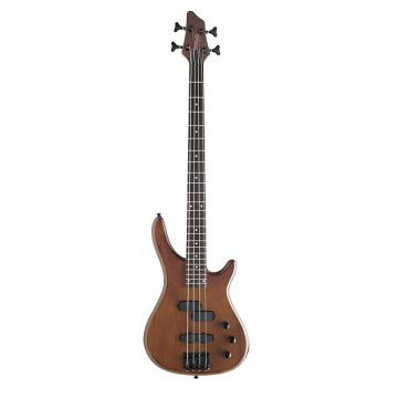 Custom Stagg 4-String Fusion Bass Guitar - Walnut Stain