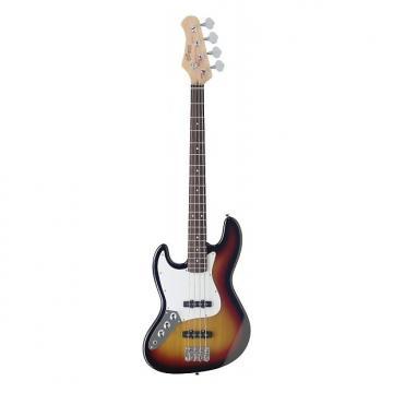 Custom Stagg Left Hand 4-String Fusion Bass Guitar - Sunburst