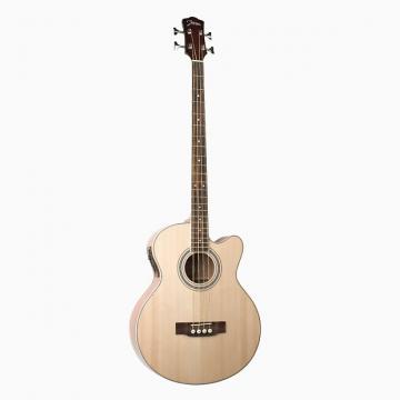 Custom Johnson Cutaway Acoustic Bass Natural