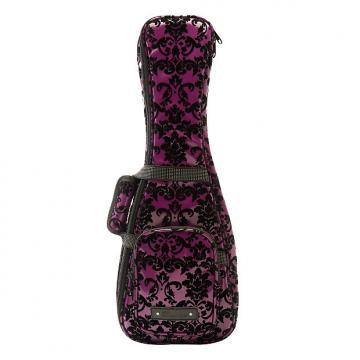 Custom Beaumont Stylish Purple Lace Soprano Ukulele Bag - Padded Designer Case