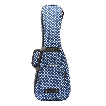 Custom Beaumont Stylish Blue Polka Dot Soprano Ukulele Bag - Padded Designer Case