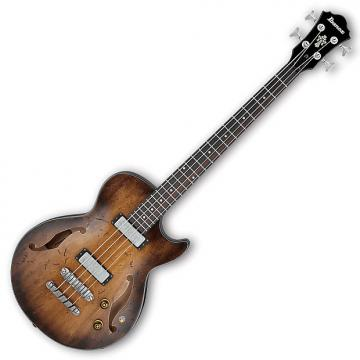 Custom Ibanez AGBV200A Artcore Vintage 4 String Electric Bass - Tobacco Burst Low Gloss
