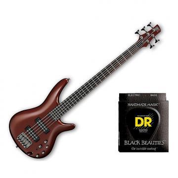 Custom Ibanez SR305E 5 String Root Beer Metallic w/Set DR Strings BKB545