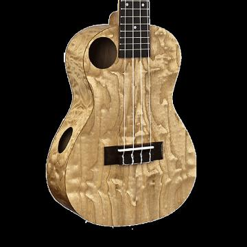 Custom Amahi Snail Quilted Ash Concert Ukulele with Gig Bag