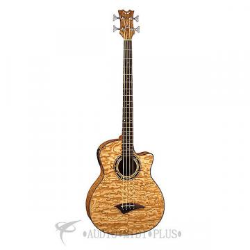 Custom Dean Guitars Exotica Quilted Ash 4 Strings Acoustic Electric Bass Natural - EQABAGN-U - 819998116095