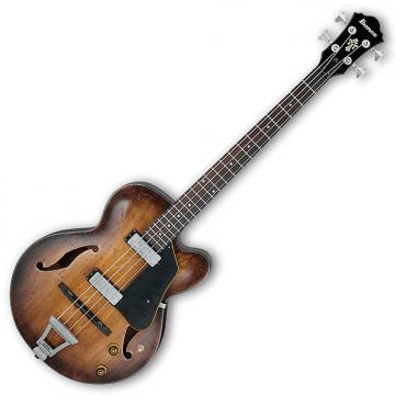 Custom Ibanez AFBV200ATCL Artcore Vintage 4 String Electric Bass - Tobacco Burst Low Gloss
