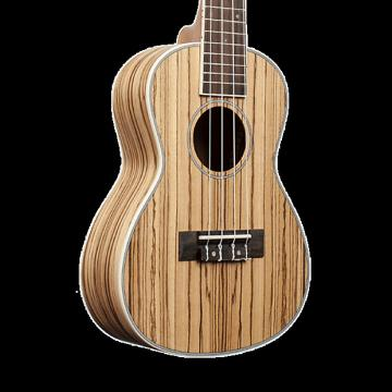 Custom Amahi UK330B Classic Zebrawood Ukulele - Baritone with Gig Bag
