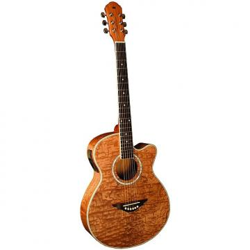 Custom Morgan Monroe MM-QANT Quilted Ash Acoustic Electric Guitar, Natural