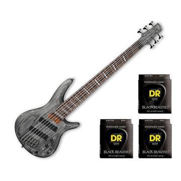 Custom Ibanez SRFF806BKS 6-String - Black Stained w/3 Sets DR Strings BKB630