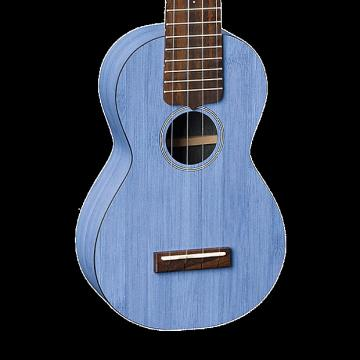 Custom Martin OXUKE Bamboo Soprano Ukulele - Blue with Gig Bag