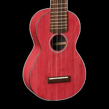 Custom Martin OXUKE Bamboo Soprano Ukulele - Red with Gig Bag