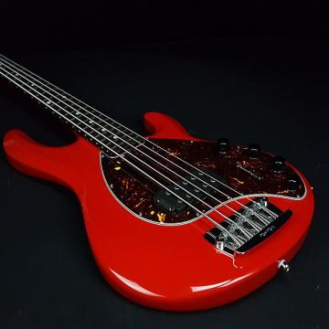 Custom Music Man Stingray 5 Neck Through Single H Chili Red w/ Case