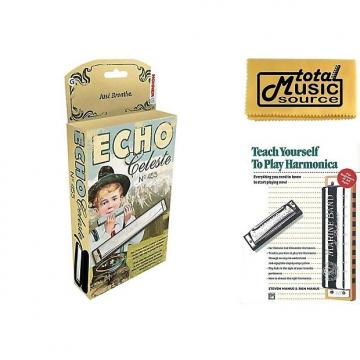 Custom Hohner 455 Echo Celeste Tremolo Tuned Harmonica Key of G, Includes Case & Book