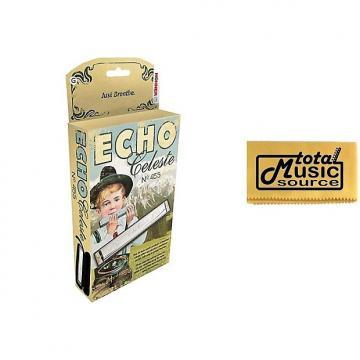 Custom Hohner 455 Echo Celeste Tremolo Tuned Harmonica Key of G, Includes Case & TMS Polishing Cloth, 455BX-G PC